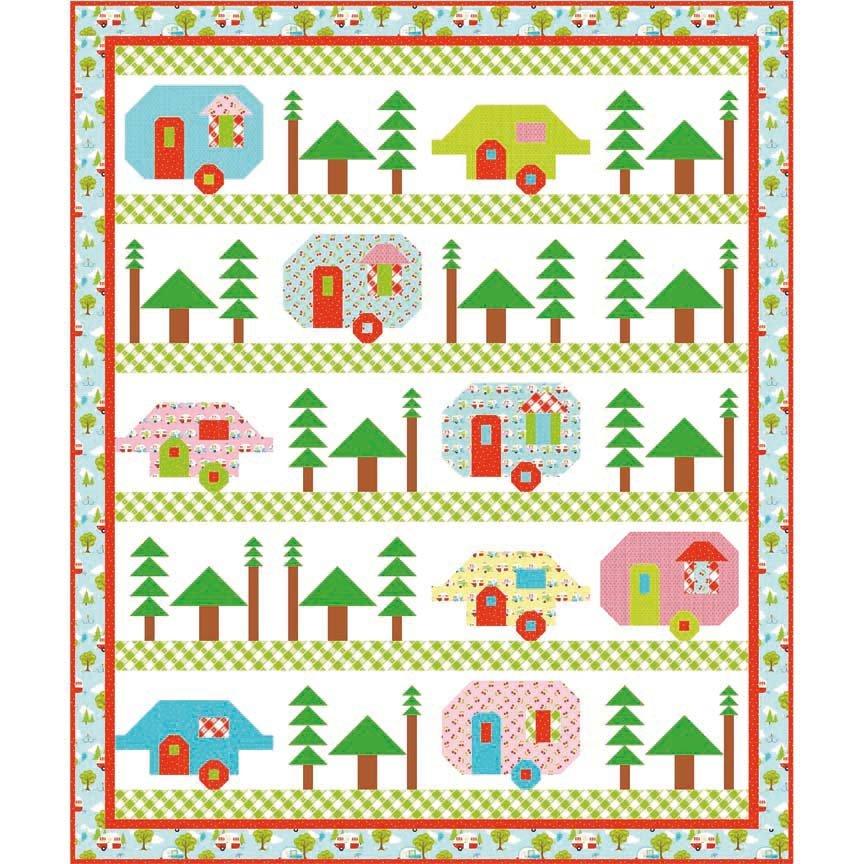 Trailerville Quilt Pattern  72 x 72