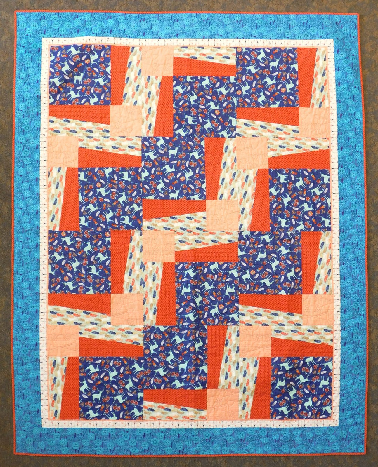 Pachua Island - Finished Quilt - 69 x 87 - Twin Size