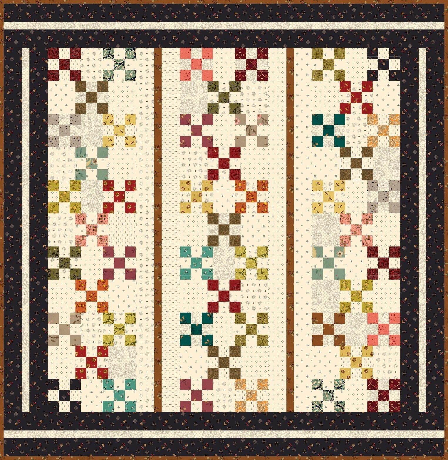 Simple Whatnots 10 - Party Of Nine Quilt Kit - 30 1/2 x 31 1/4