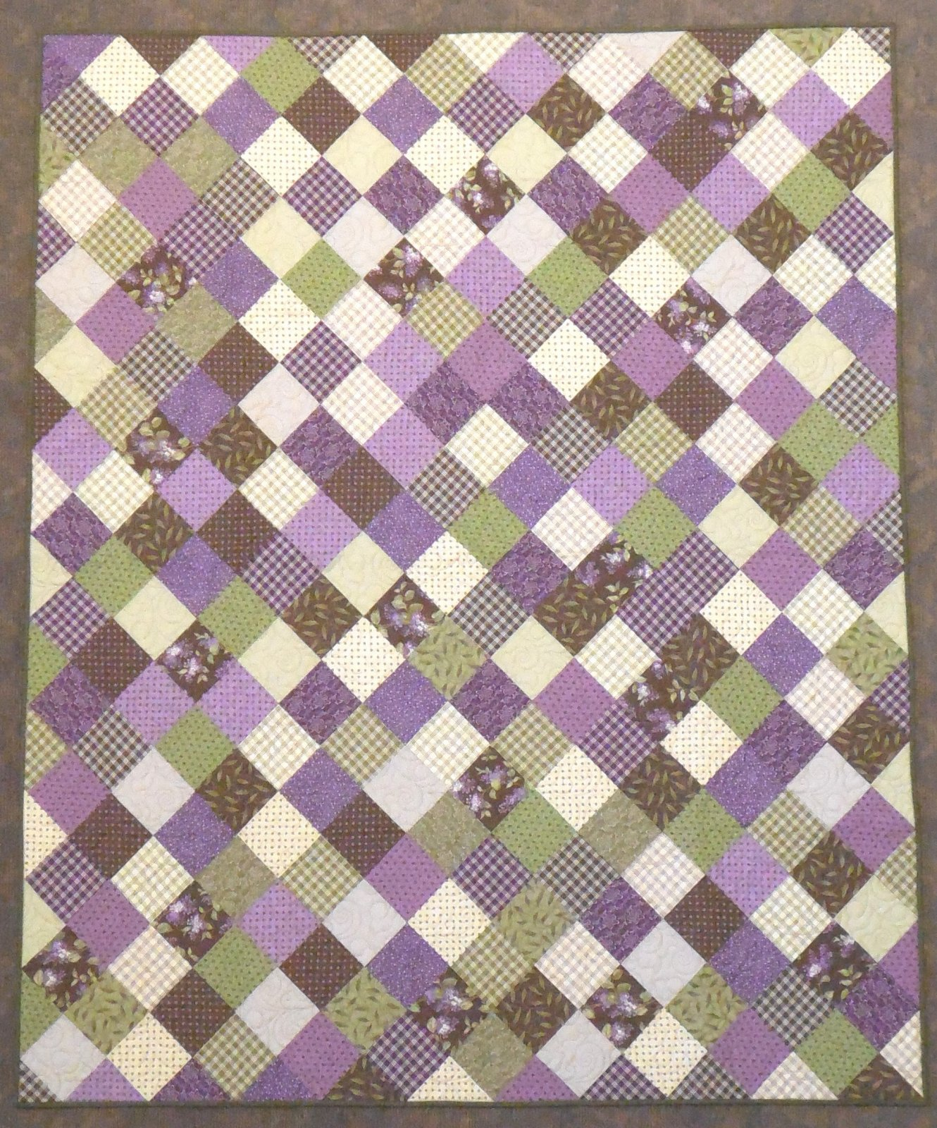 Patchwork on point-Lilac Ridge Quilt Kit 60 x 71