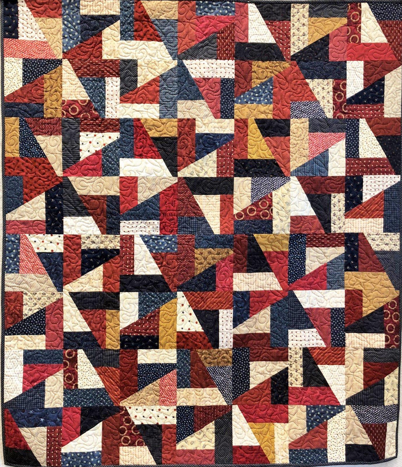 Patriotically Crazy - Quilt Kit - 56 x 64