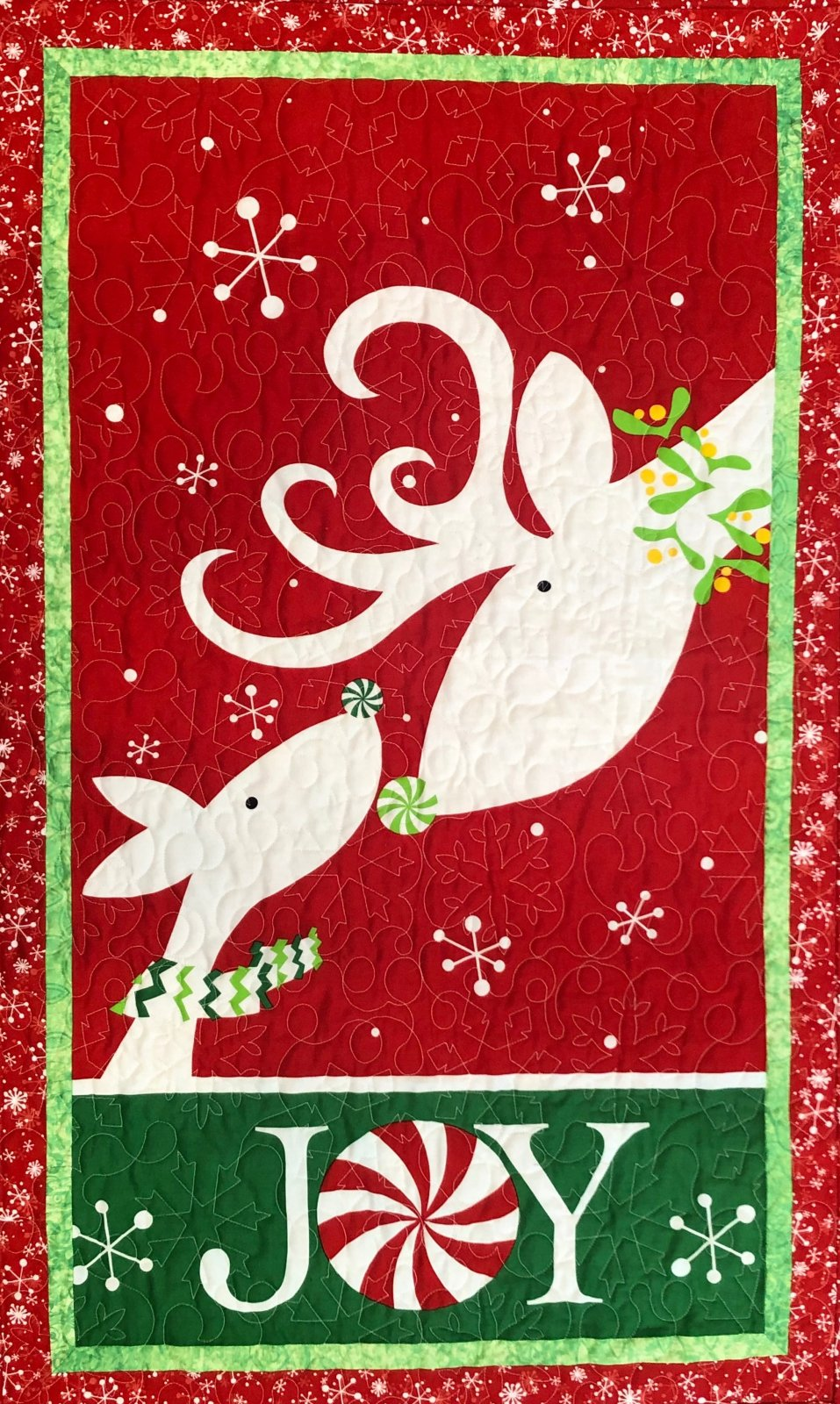 Peppermint Reindeer Wall Hanging Kit - 28 x 44