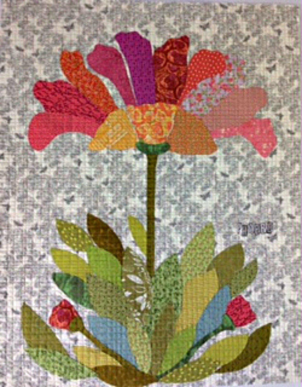 Phoebe - A Collage Pattern by Laura Heine of Fiberworks - 41 x 52