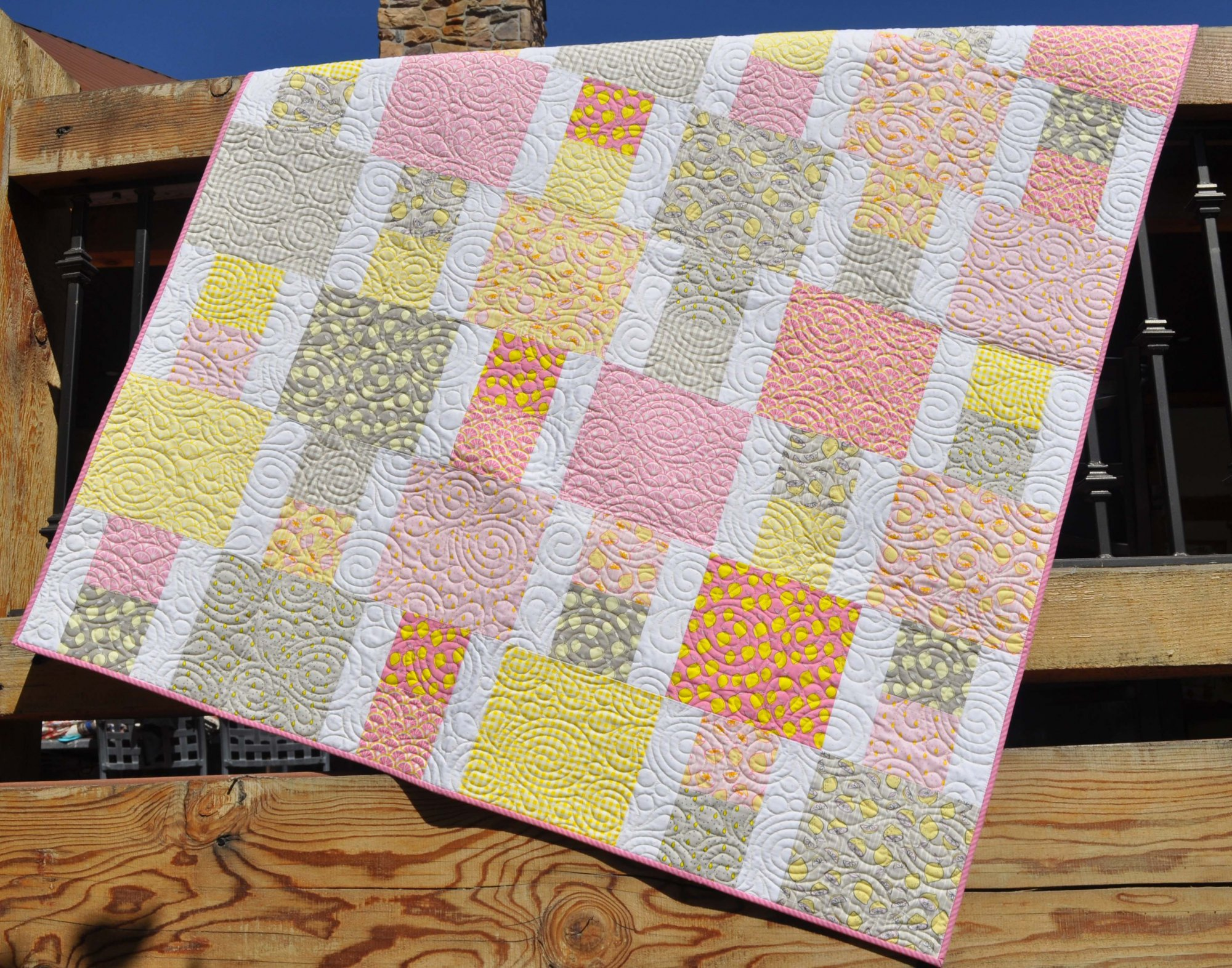 Pink Lemonade Quilt - 53 x 67