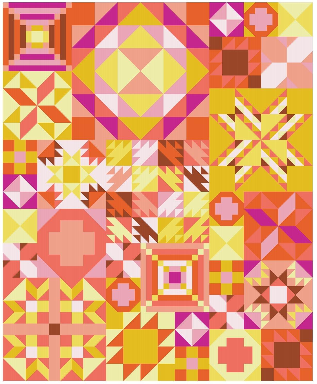 My Favorite Color Is Moda - Pink Lemonade Quilt Kit - 81 x 99