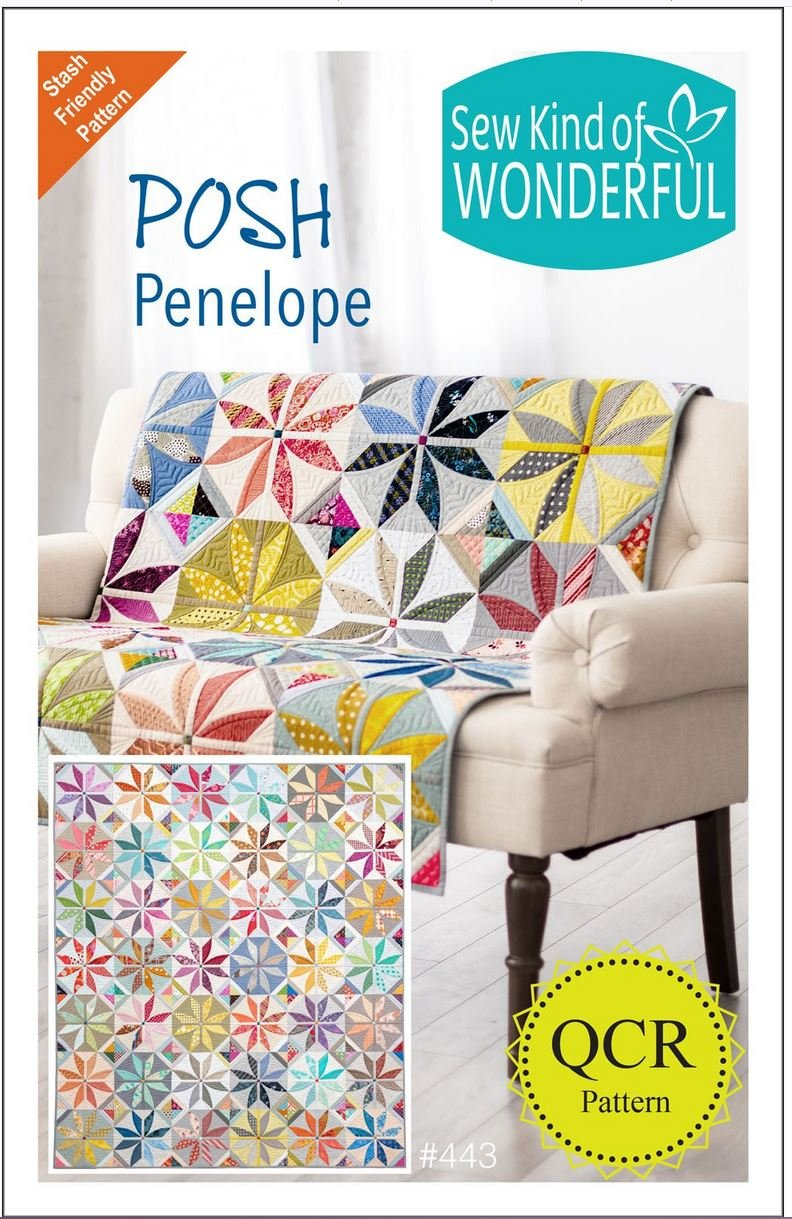 Posh Penelope Quilt Pattern by Sew Kind of Wonderful