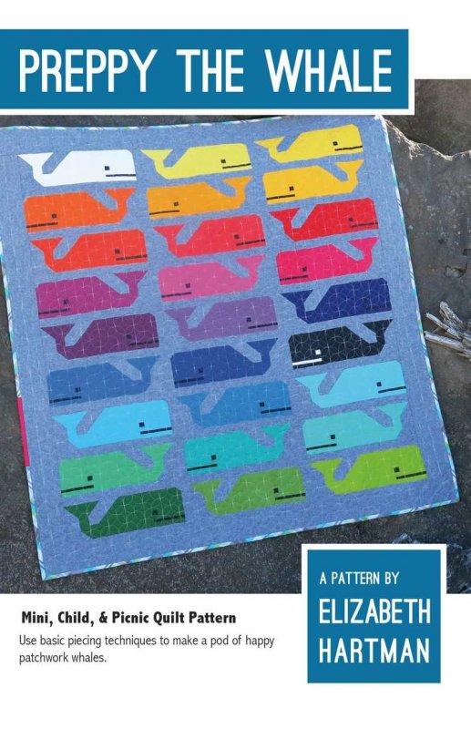 Preppy The Whale Quilt Pattern by Elizabeth Hartman