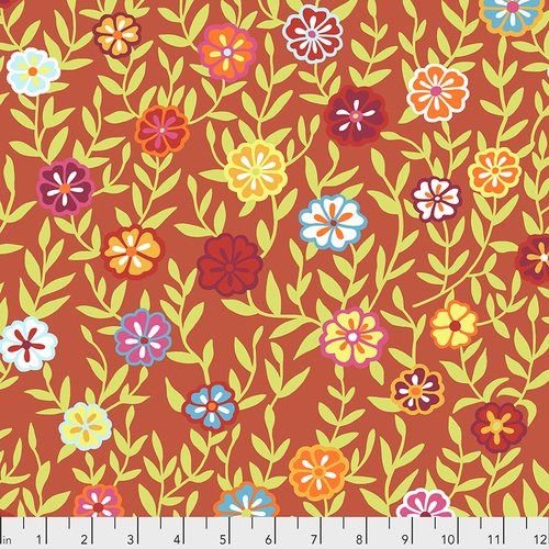 Kaffe Fassett Collective - February 2020: Busy Lizzy - Red