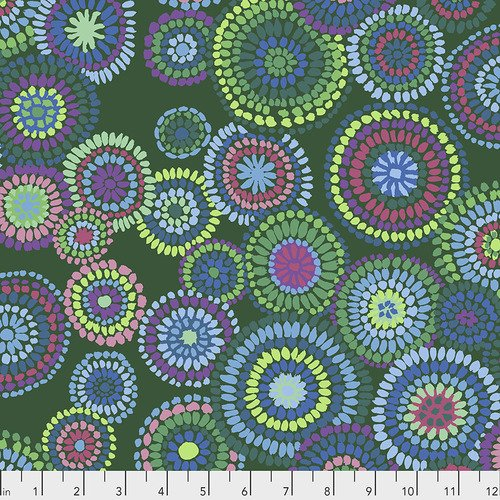 Kaffe Fassett Collective - February 2020: Mosaic Circles - Green