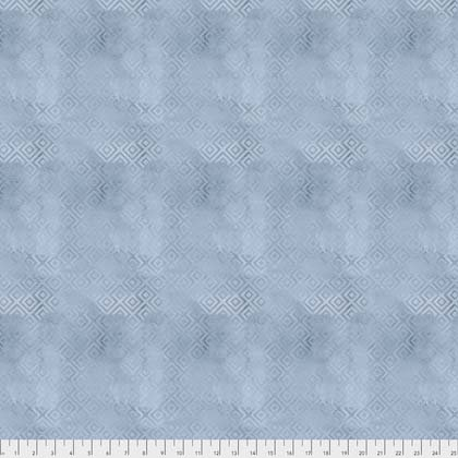 EOB - 37 - Crisp Petals - Brushed Geometric - Blue Jay