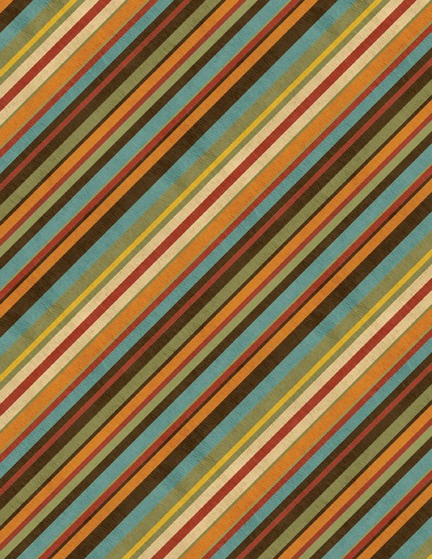 EOB - 1 1/3 yards - Colors of Fall - Diagonal Stripe - Multi