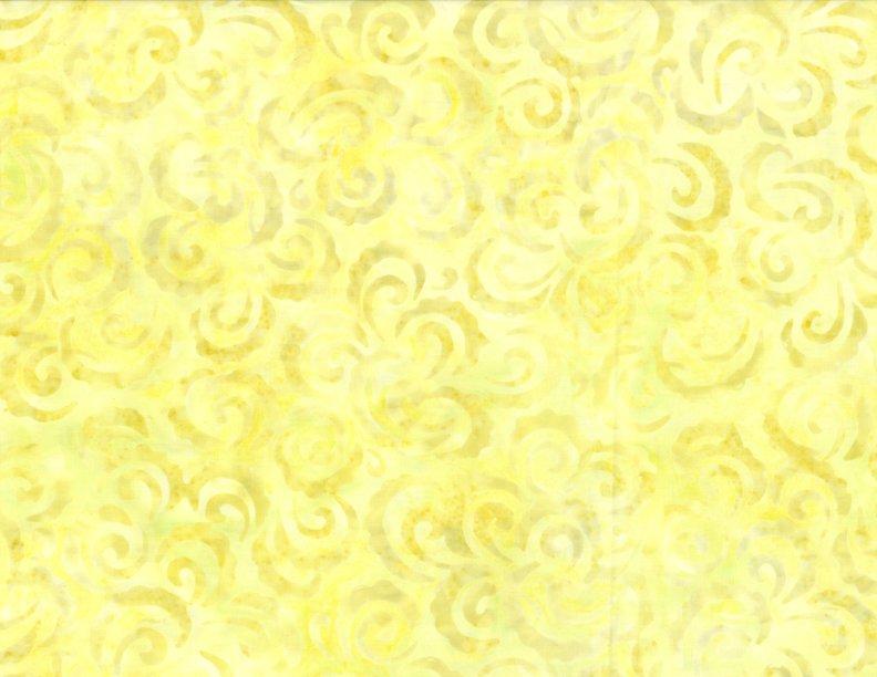 EOB - 1 yard 17 - Curlicues - Yellow