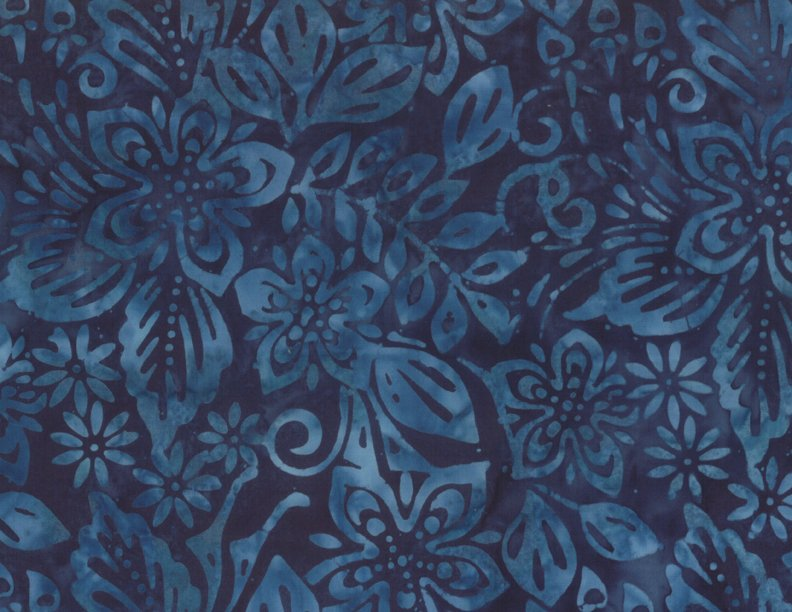 EOB - 1 yard 27 - Packed Floral Mix - Deep Blue