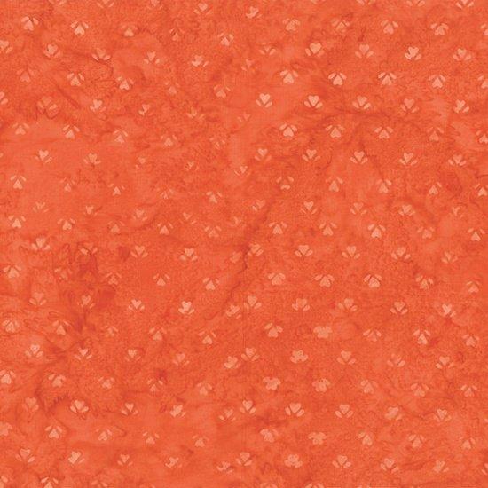 Bali Batiks - heart blossom - Cayenne