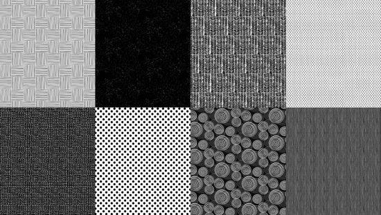 Details - Spectrum Print - Noir - 8 FQ Bundle