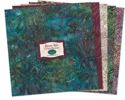 Beets Me - Batiks by Wilmington - 10 Squares - 24 pcs