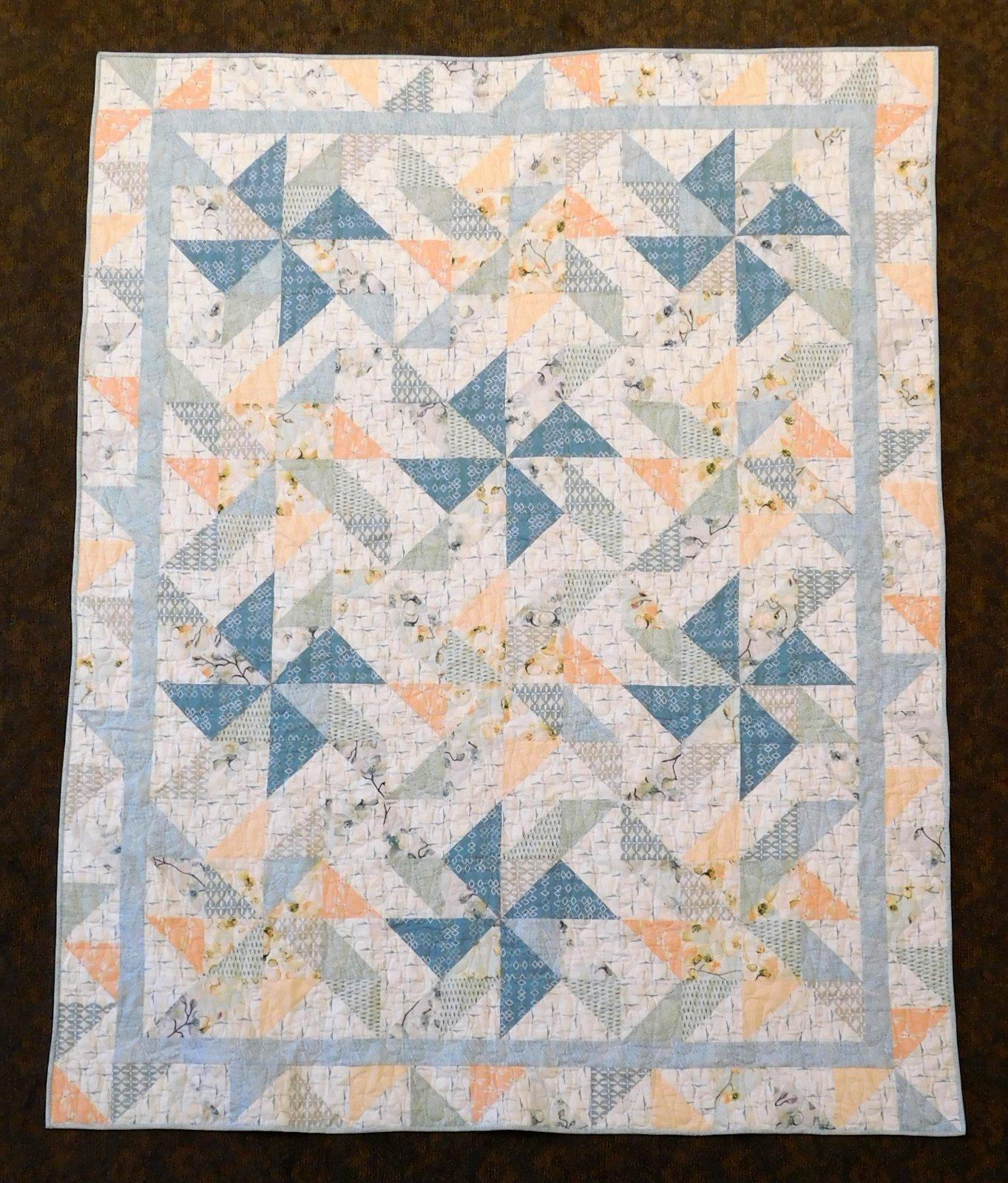Reverie Pinwheels Quilt Kit 59 x 74 1/2