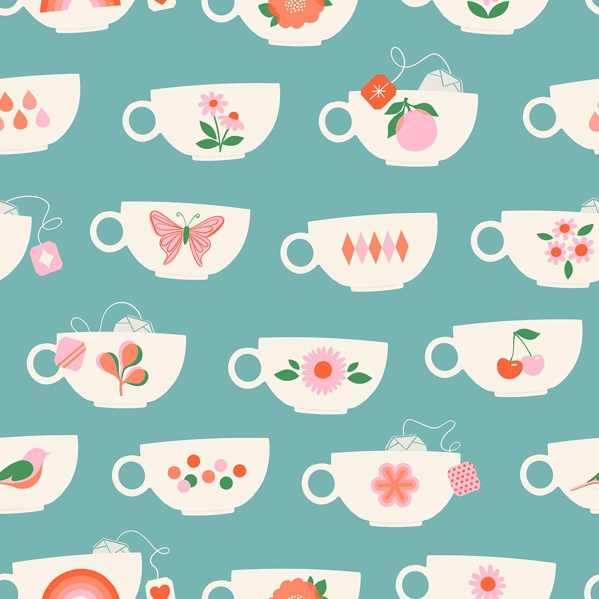 Pre-Order - Camellia - Tea Cups - Turquoise