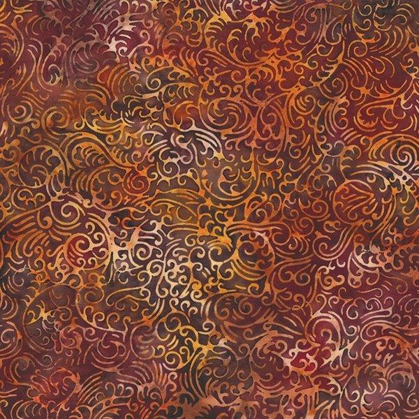 Bali Batiks - Scrolls - Paprika