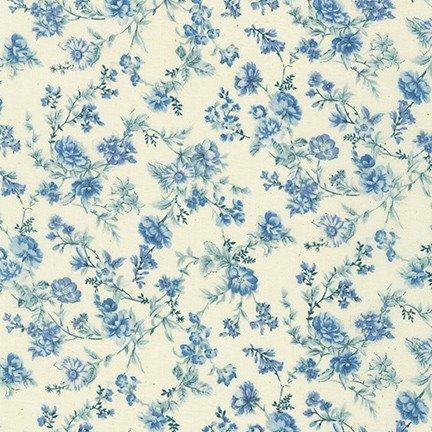 English Garden - floral - Blue