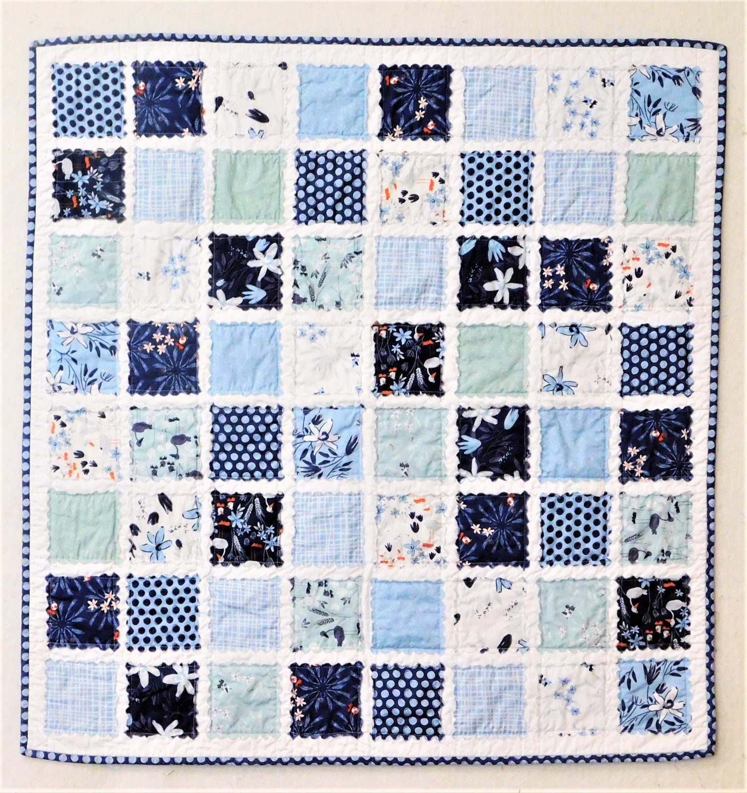Scalloped Square Baby Quilt - 38 x 38