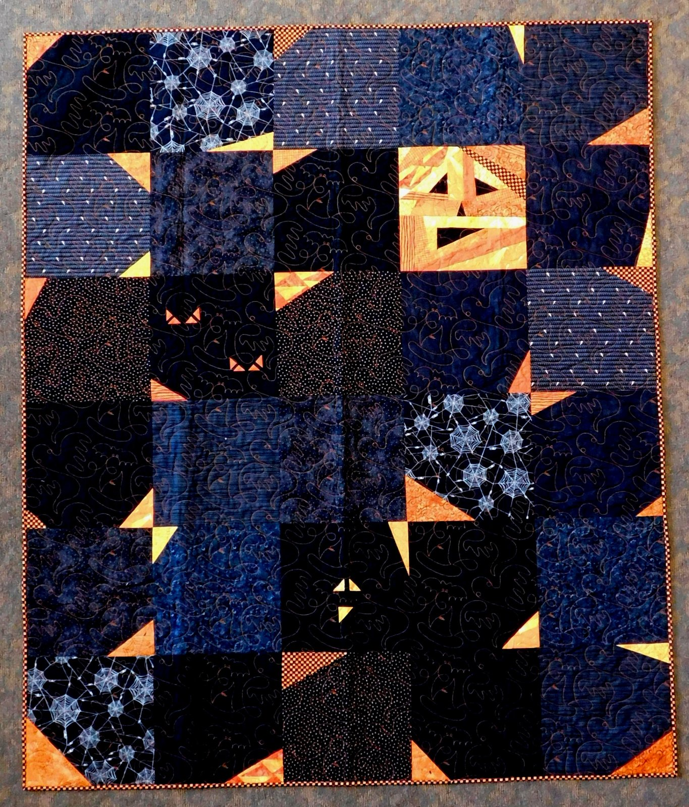 Scrappy Jack Finished Quilt 58 x 69