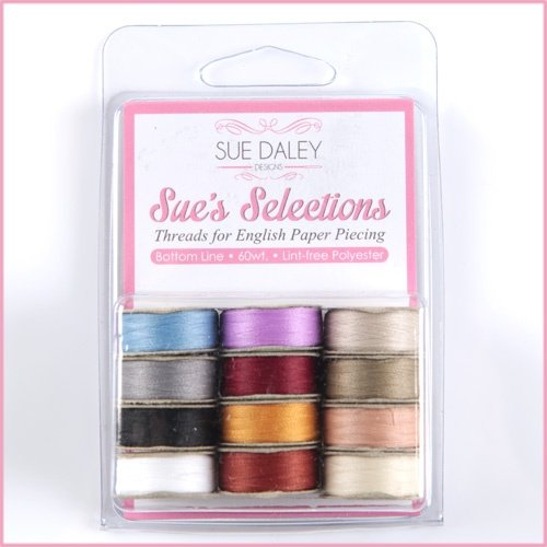 Prewound Bobbins - by Sue Daley Designs - 12 Bobbins