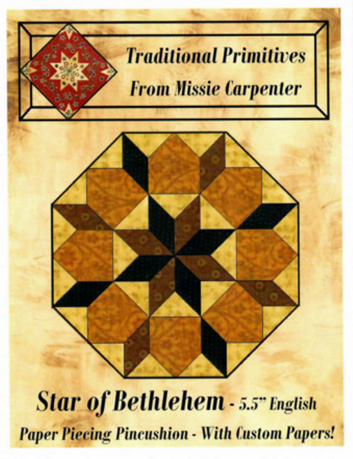 Star of Bethlehem - 5.5 EPP Pincushion - Traditional Primitives