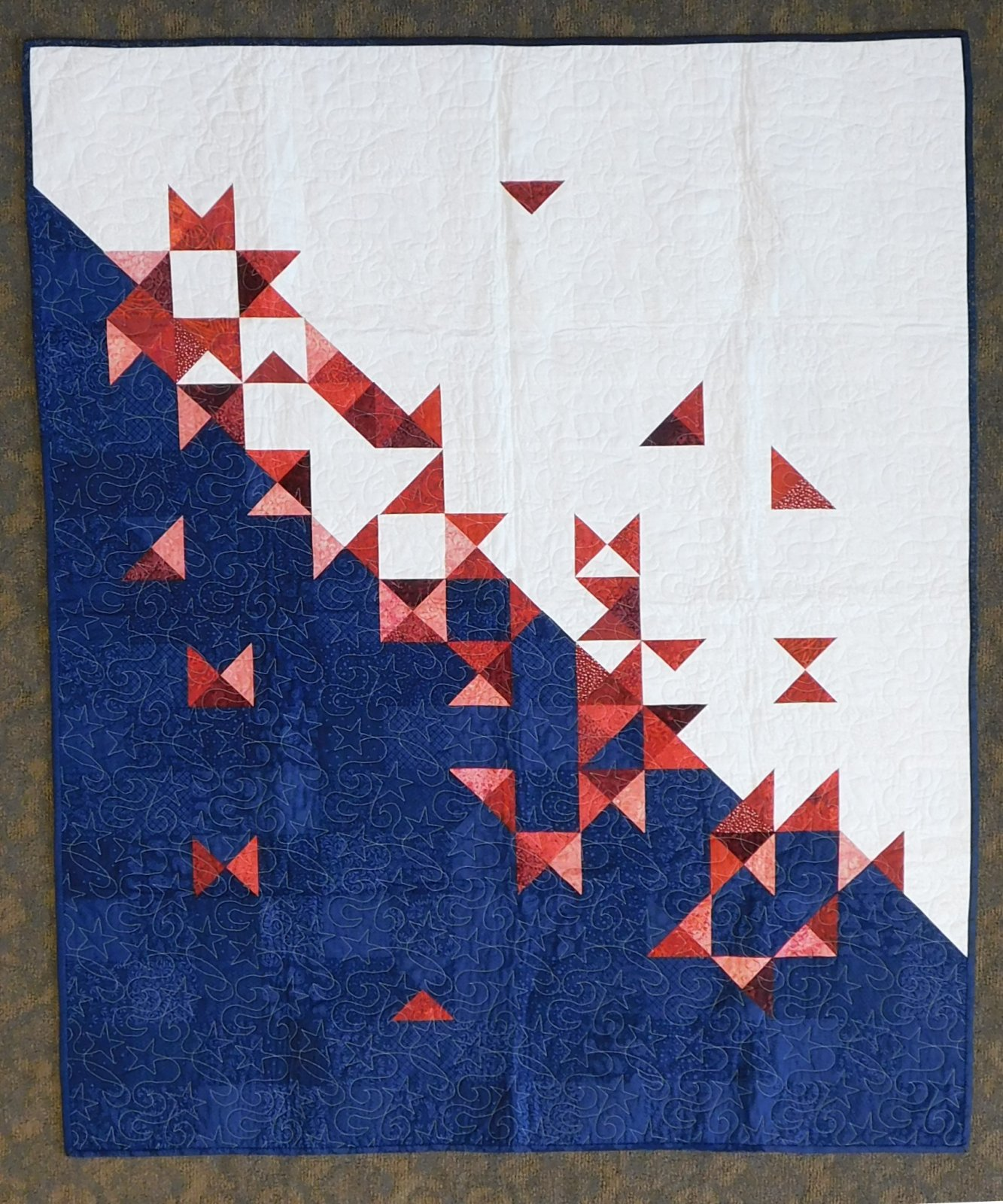 Stars on the Loose Finished Quilt 51 x 62