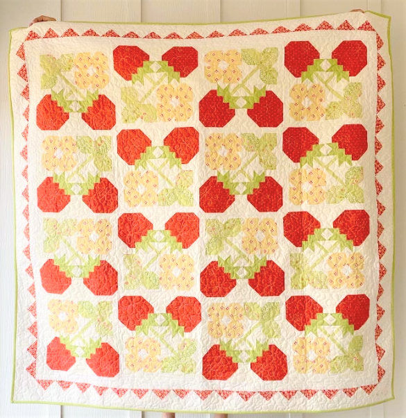 Strawberry Blossoms Quilt Kit - 67 x 67