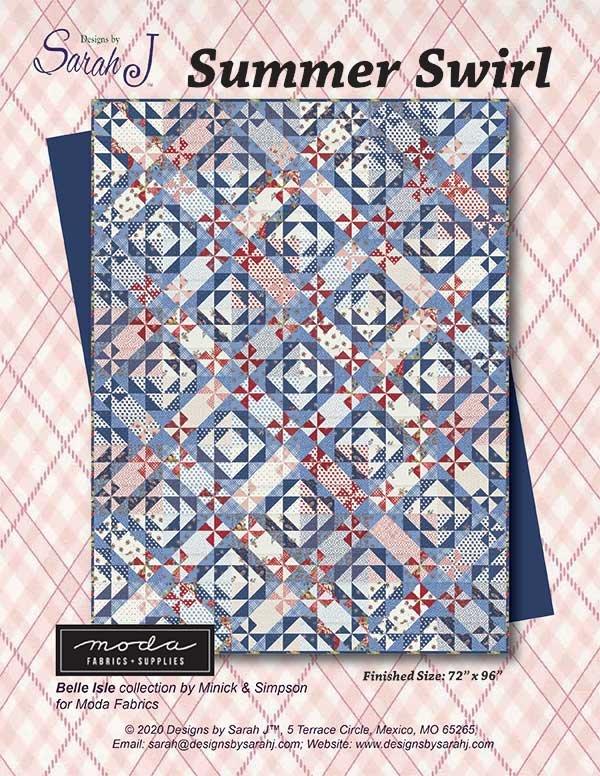 Summer Swirl Quilt Pattern - 72 x 96