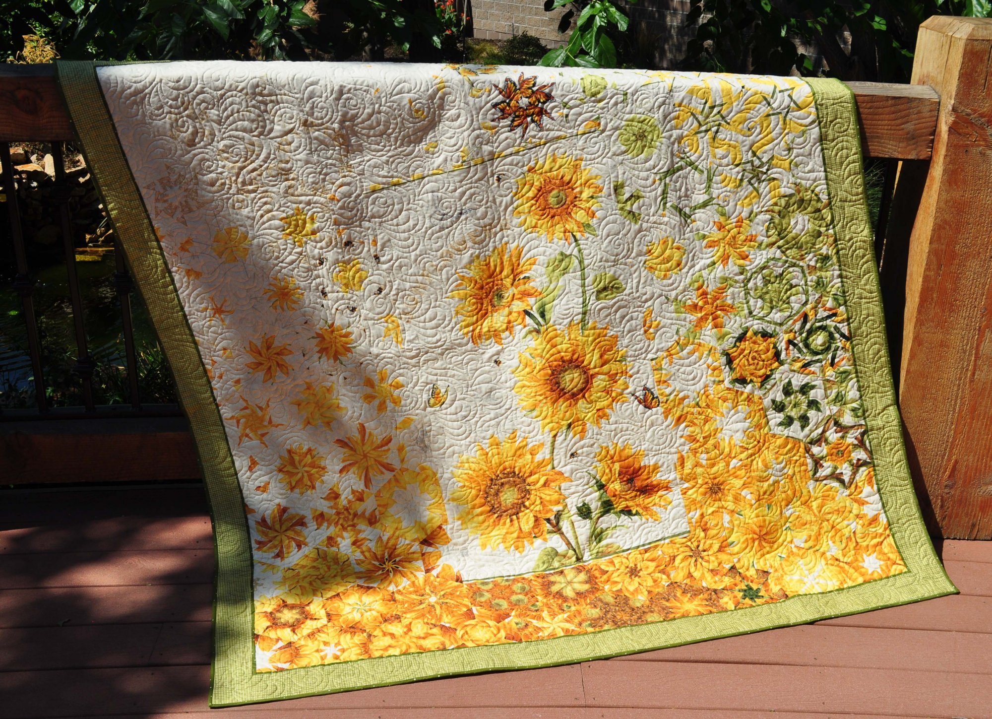 Sunflower One Block Wonder Quilt - 66 x 70