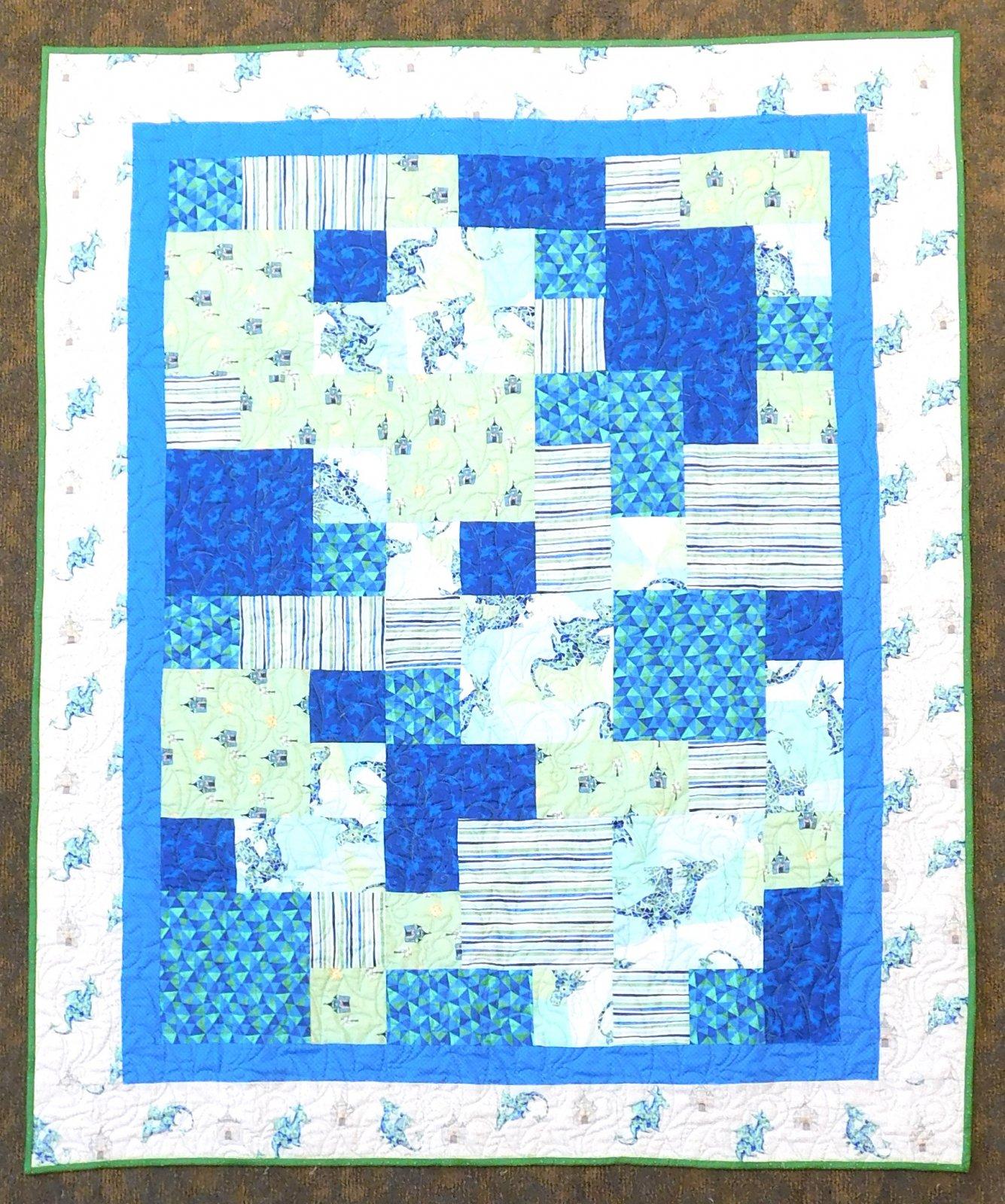 Take 5 - Dragons Rule Blue/Green 48 x 60