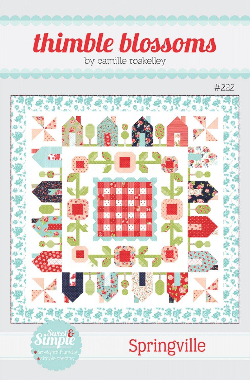 Springville Quilt Pattern - 75 x 75 - Thimble Blossoms