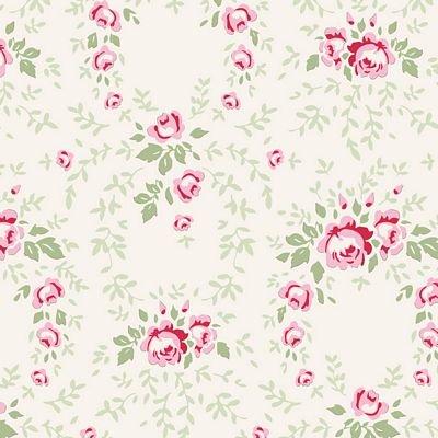 Craft Fabric metre//fat quarter Red Cotton Fabric Tilda AppleButter Shirley