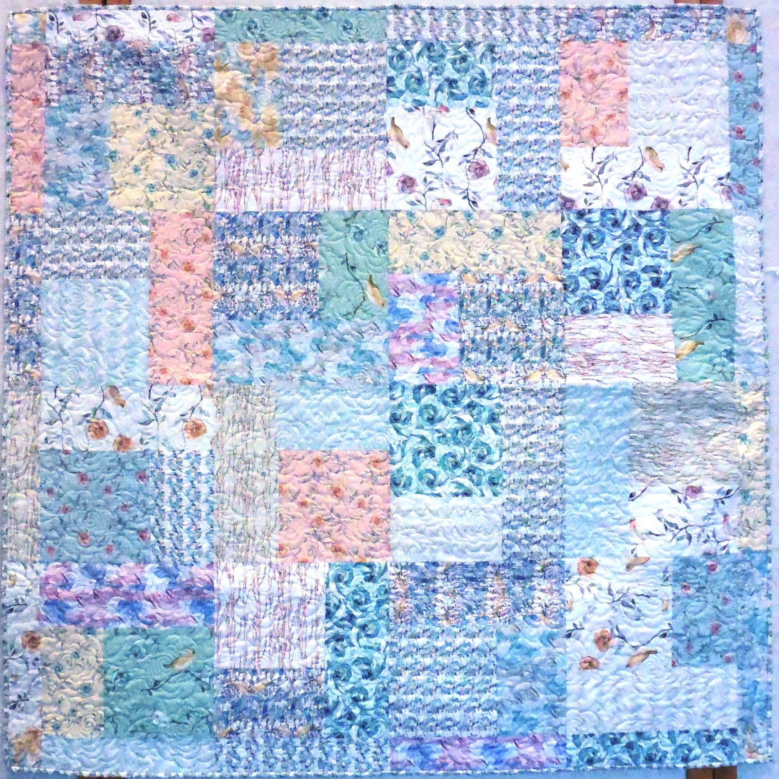 Bloom Beautiful - Finished Quilt - 61.5 -61.5