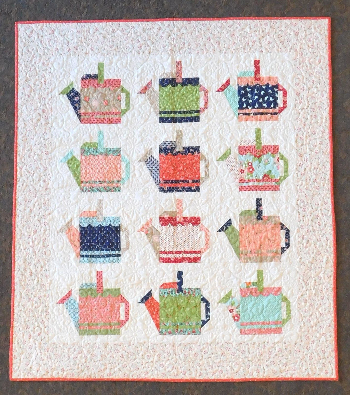 Watering Cans Quilt Kit 54 1/4 x 61 3/4