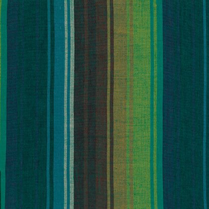 Kaffe Fassett Collective - Wovens- Exotic Stripe - Emerald