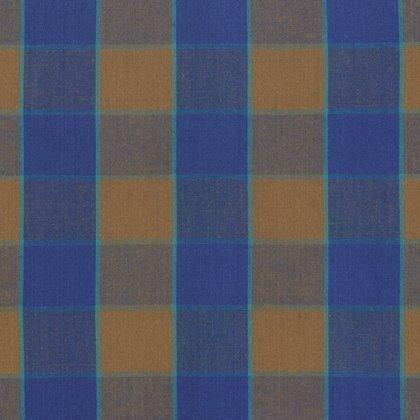 Artisan Fabrics by Kaffe Fassett for Free Spirit - Checkerboard Plaid Ikat - Blue