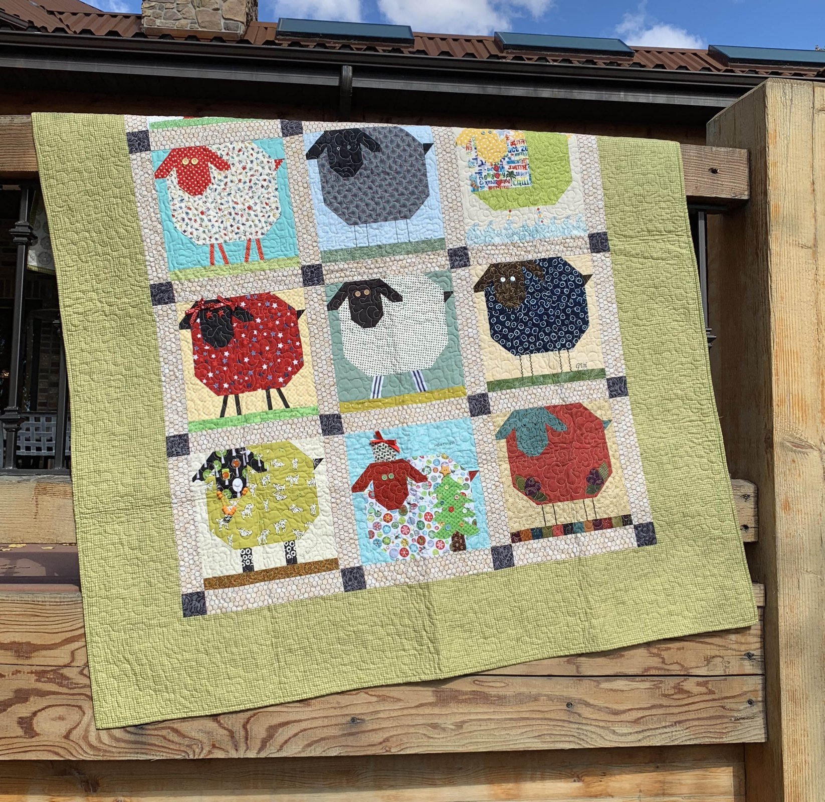 Woolly Sheep Quilt - 60 x 74