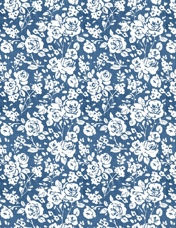 Summertime Roses Blue
