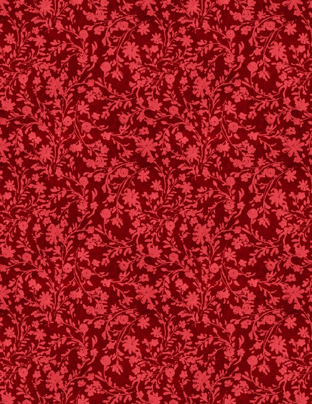 Summertime Twined Floral Red