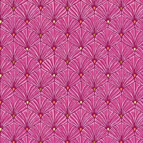 Fan Scallops Fuchsia