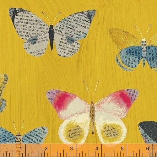 Mustard Newspaper Butterflies