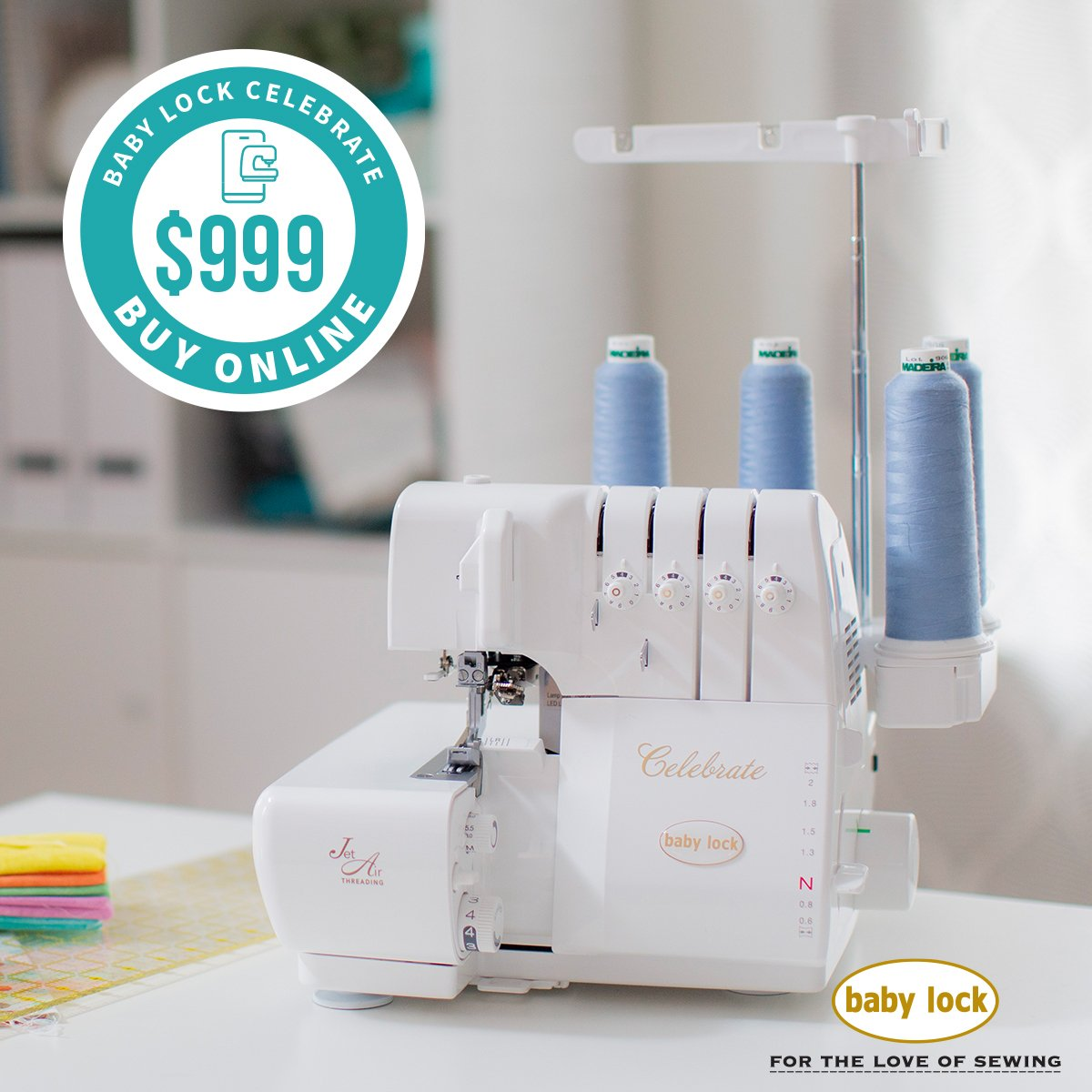 CELEBRATE Serger Machine includes shipping