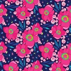 Josie Jean Light Navy Floral