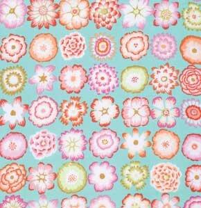 Button Flowers Aqua