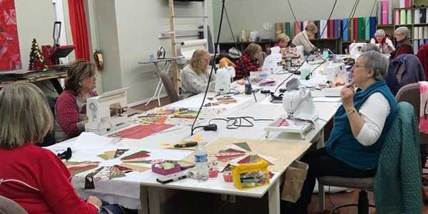 A class at The Stitchery