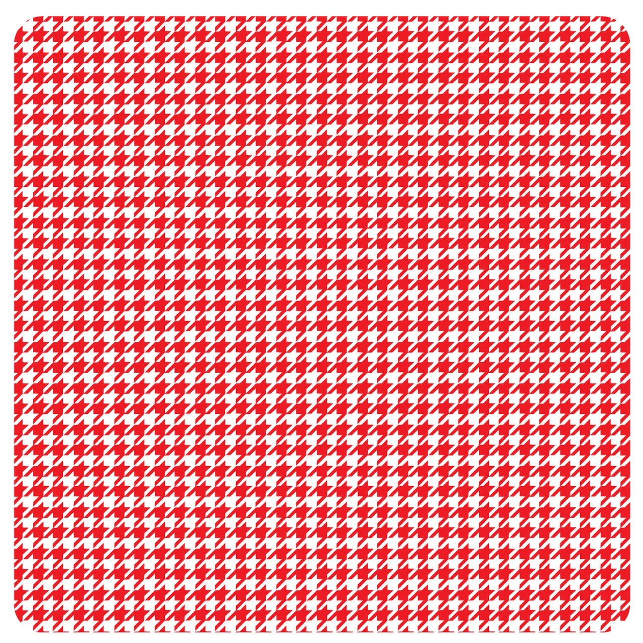 Red and White Houndstooth Adhesive 12 x 14