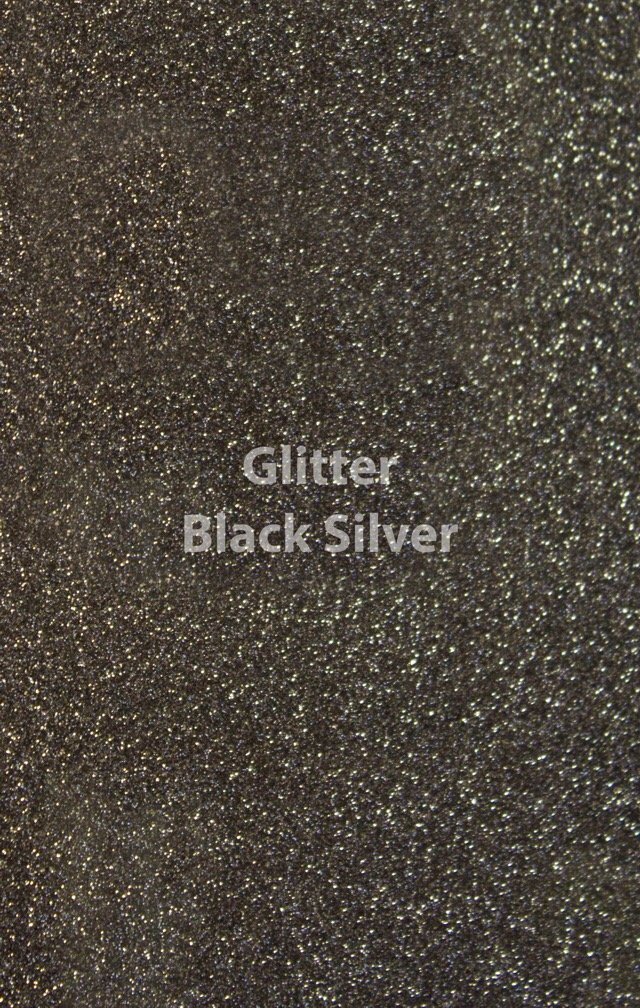 Siser HTV Glitter Black Silver Sheet